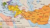 La divisione dell'Impero di Alessandro tra i Diadochi