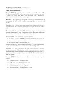 Esercitazione matematica finanziaria