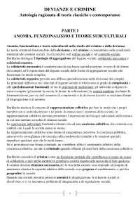 """Riassunto """"Devianze e Crimine """" di Cirus Rinaldi e Pietro Saitta"""