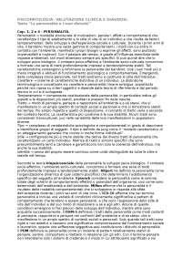 Psicopatologia - diagnosi e valutazione clinica