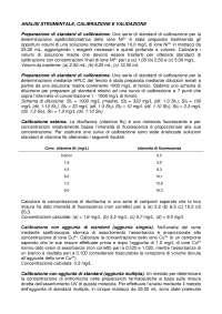 Chimica Analitica-Esercizi calibrazione