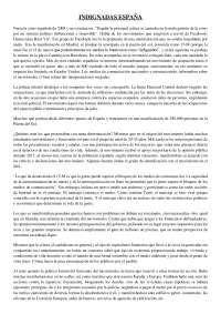 Resumen Indignadas España