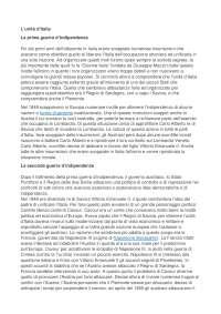 L'Unita d'Italia:La prima guerra d'Indipendenza