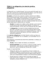 Apuntes tema 1 Derecho Civil II