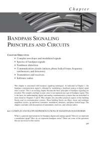 bandpass signaling principles