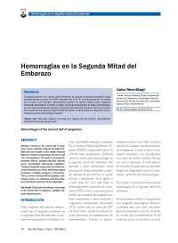 HEMORRAGIAS DURANTE EL EMBARAZO
