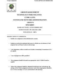 System and Network Administration