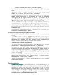 Tema 2: procesos de socialización