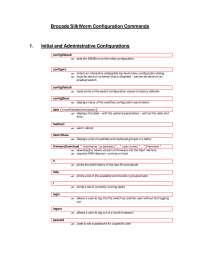 brocade commands for engineer