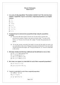 Discrete Math home work foundations logic and proofs and relation