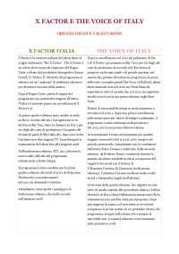 Analisi x-factor e The voice, analisi dei linguaggi televisivi