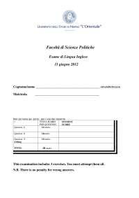 lingua inglese 1 modello esame