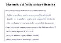 Meccanica dei fluidi: statica e dinamica