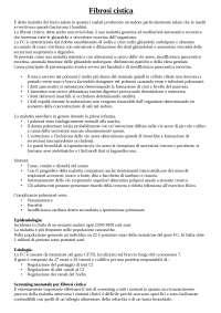 appunti sulla fibrosi cistica