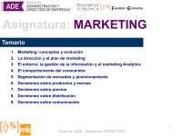 Temario de Principio de Marketing