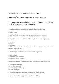 Forenzička medicina - skripta