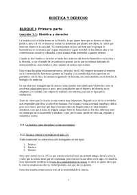 Bioetica y Derecho (I)