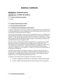Bioetica y Derecho (II)
