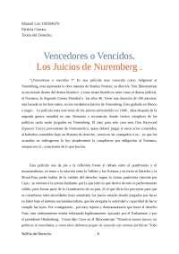 Teoria del Derecho . Vencedores o vencidos.