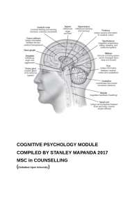 Selected Topics in Cognitive Psychollogy