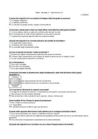 Geografia economico-politica questionario di autovalutazione Modulo 3