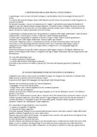 """RIASSUNTO DISPENSA """"CORSO ISTITUZIONALE DI GLOTTOLOGIA E LINGUISTICA"""" (CAPRINI E SICARDI)"""