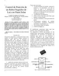 Control - dispositivo seguidor de luz solar