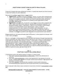OGGETTIVISMO E SOGGETTIVISMO NEL DIRITTO PENALE ITALIANO