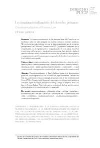 Constitucionalización del Derecho (Landa)