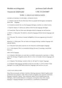 The language and ideology