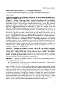 Appunti dettagliati Storia del Libro e delle Biblioteche (1a parte del corso, 6 CFU), prof. G. Ruffini a.a. 2018/2019 UniFi