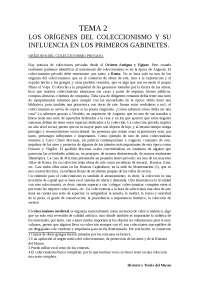 MUSEOLOGíA - LOS ORIGENES DEL COLECCIONISMO