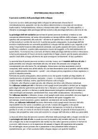 Riassunto corso di psicologia dello sviluppo e dell'educazione con elementi di psicologia pediatrica Perricone, Morales,Polizzi