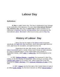 Labor Day celebrations in slums