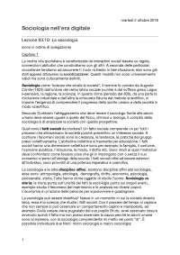 """Riassunto libro """"Individui e società tra mutamento e persistenze"""" - Materia: Sociologia nell'era digitale IULM - Scramaglia"""