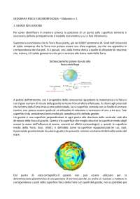 ELABORATO N.1 GEOGRAFIA FISICA E GEOMORFOLOGIA