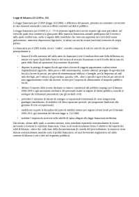 legge di bilancio 2009