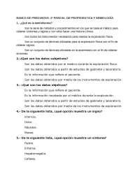 Banco de preguntas, Propedeutica y semiologia medica