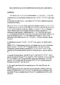 Soluzioni compiti matematica