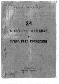 24 Studi per Trombone Tenore