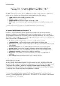 Business model generation - summary