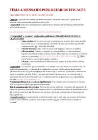TEMA 4. PUBLICIDAD Y RELACIONES PÚBLICAS