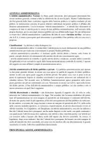 Riassunto l'attività amministrativa - Atti e provvedimenti amministrativi