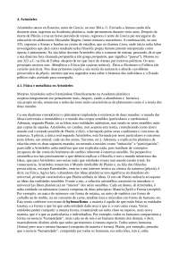 Física e metafísica en Aristóteles. Ética e política en Aristóteles.