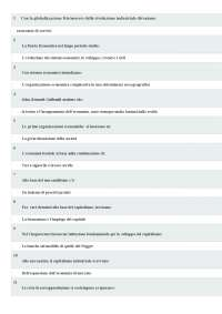 TEST DI AUTOVALUTAZIONE STORIA ECONOMICA UNIPEGASO
