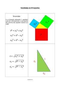 Basi del teorema di Pitagora