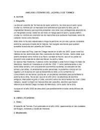 RESUMEN DE LAZARILLO DE TORMES