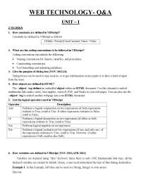 Web Technology Notes