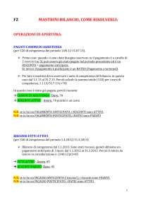 Appunti per risoluzione del bilancio (parte pratica - mastrini)