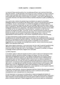 Giulio Lepschy - Lingua e sessismo